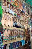 Shoes on the market in Arpora, North Goa, India Royalty Free Stock Photography