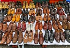 Shoes market Stock Image