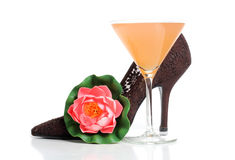 Shoes and martini Stock Image