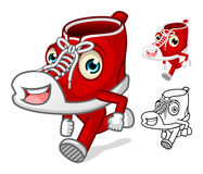 Shoes Mascot with Extremities Cartoon Character Stock Images