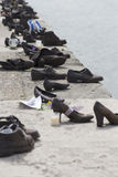 Shoes memorial - Danube promenade, Budapest Royalty Free Stock Photography