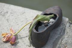Shoes memorial - Danube promenade, Budapest Royalty Free Stock Images