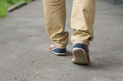 Shoes men close up. Royalty Free Stock Images