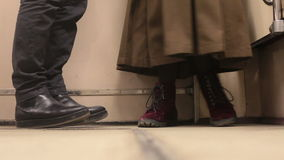 Shoes men and women dialogue stock footage