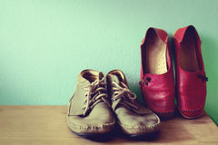 shoes for men and women Royalty Free Stock Photos
