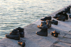 Shoes monument in Budapest Stock Image