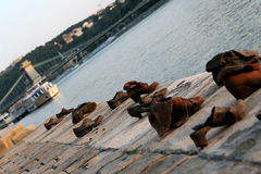 Shoes monument in Budapest Royalty Free Stock Images