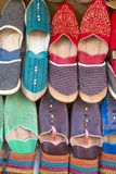Shoes on the moroccan market Stock Photos