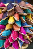 Shoes on the moroccan market Royalty Free Stock Photo