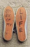 Shoes of my life Royalty Free Stock Image