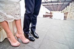 Shoes for a wedding Royalty Free Stock Image