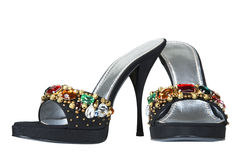 Shoes with an ornament Royalty Free Stock Photo