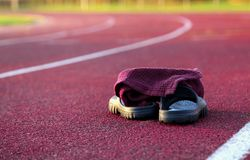 Typical athletic track stock images