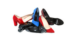 Shoes over white background Royalty Free Stock Photos