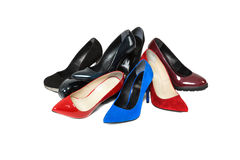 Shoes over white background Royalty Free Stock Image