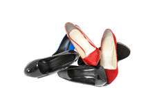 Shoes over white background Royalty Free Stock Photo