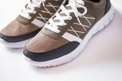 Shoes pair of sneakers stock images
