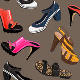 Shoes pattern Royalty Free Stock Photos