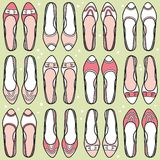 Shoes pattern Royalty Free Stock Photo