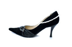 Shoes with pearls Stock Photos
