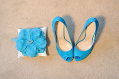 Shoes and Pillow Stock Photography