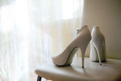 Shoes in precious stones Stock Image
