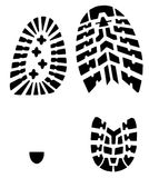 Shoes prints. Male and female shoes prints on white Royalty Free Stock Photos