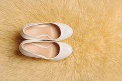 Shoes on Puffy Carpet Stock Image