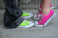 Shoes from punk fashion Stock Images