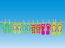 Shoes on a rope Royalty Free Stock Images