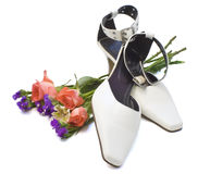 Shoes and roses Royalty Free Stock Photography
