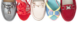 Shoes in a row Royalty Free Stock Photography