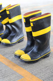 Shoes safety for firefighter Stock Photos
