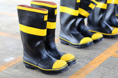 Shoes safety for firefighter Stock Images