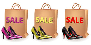 Shoes sale Royalty Free Stock Photos