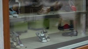 Shoes for Sale stock footage