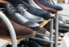 Shoes for sale Royalty Free Stock Photos