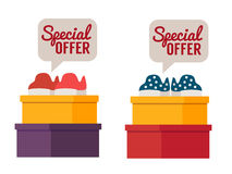 Shoes sale. Vector shopping illustration Royalty Free Stock Image