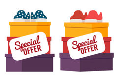 Shoes sale. Vector shopping illustration Royalty Free Stock Photography