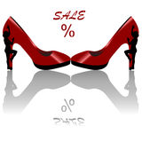 Shoes sales background Royalty Free Stock Photography