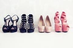 Shoes choice Stock Photos