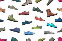Shoes seamless pattern Royalty Free Stock Photos