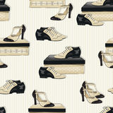 Shoes seamless pattern. Stock Images