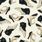 Shoes seamless pattern. Stock Image