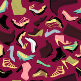 Shoes seamless pattern Royalty Free Stock Photo