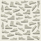Shoes seamless pattern Stock Image