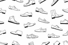 Shoes seamless pattern Royalty Free Stock Photography