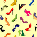 Shoes Seamless Stock Images