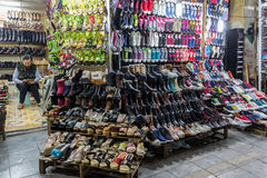 Shoes seller in Vietnam Royalty Free Stock Photos