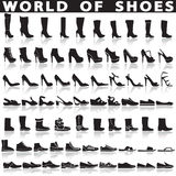 Shoes set of vector flat icons. Stock Photo